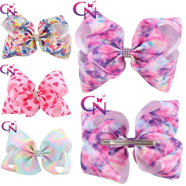 Free DHL 4 Styles Jojo Graffiti Polyester Belt Hair Accessories Children'S Bow Bubble Flower Hair Clip Barrettes Girls Birthday Gifts H984Q