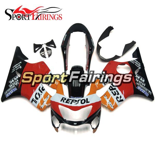 Carenados completos de inyección Repsol Naranja Rojo Para Honda CBR600F4 Año 99 00 1999 2000 Sportbike ABS Plastics Carrocería Moto