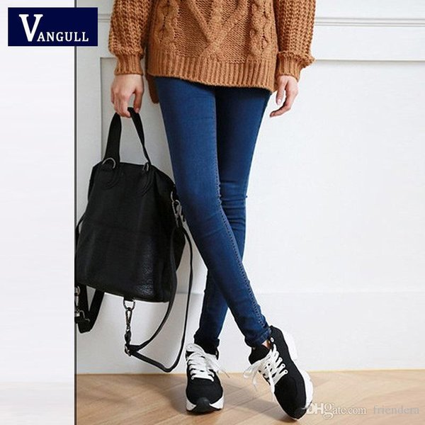 Wholesale- Hot Sale Skinny Jeans Woman Autumn New 2016 Pencil Jeans For Women Fashion Slim Ankle-Length Jeans Women's Printed Denim Pan