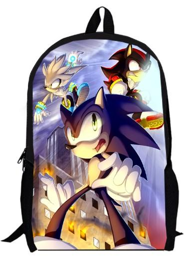 Games custom made 15inch sonic Backpack double layer anime Cartoon Super Mario Bros SW boy men School bags