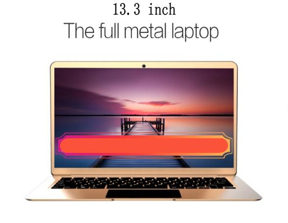 13.3 inch Full Metal laptop 1920x1080 FHD Intel Apollo Lake quad core N3450 2.2 GHz 6GB RAM 64GB/128GB/192GB/320GB SSD TBOOK AIR 2 Ultrabook