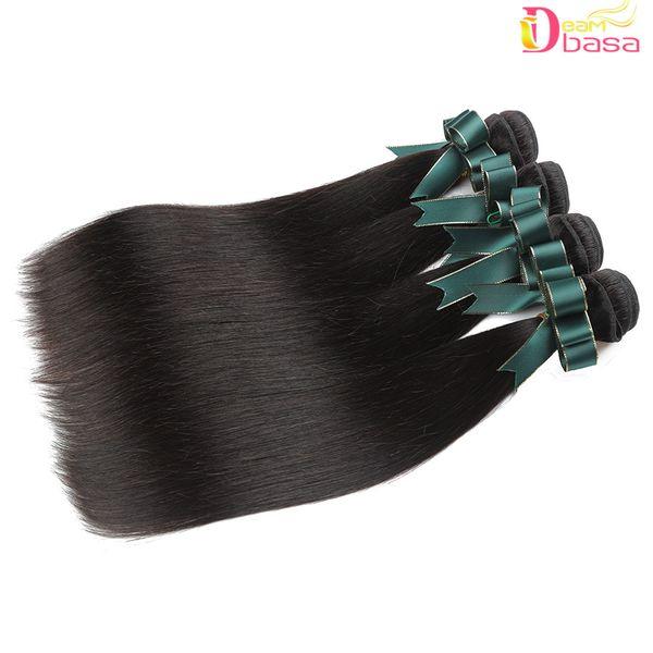 Whole ale 8a remy human hair traight bundle 100 peruvian malay ian brazilian human hair exten ion brazilian traight hair weave, Black