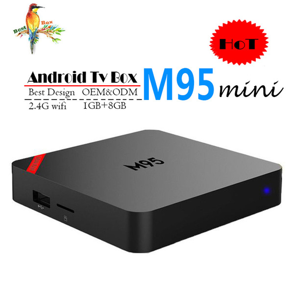 New M95 MINI Allwinner H3 Quad core Android 7.1 1GB 8GB Smart TV Box HDMI2.0 4Kx2K HD 2.4G Wifi Streaming Media Players BETTER X96 TX3 MINI