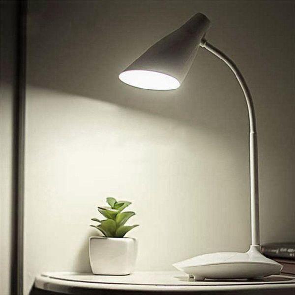 Sensor LED Desk Lamp USB Reading Study Light Smart Touch Adjustable Brightness