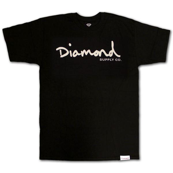 c1a1f1df8 Diamond Supply Co OG Script Camiseta Negro Blanco Impreso Hombres Camiseta  Manga Corta Camisetas Divertidas Masculinas