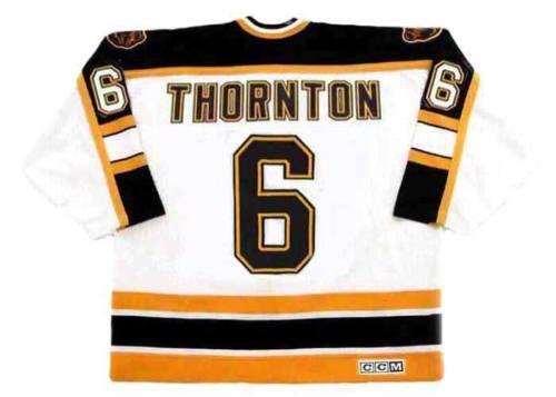 bfdb407f61e JOE THORNTON Boston Bruins 1997 CCM Vintage Home Hockey Jersey All ...