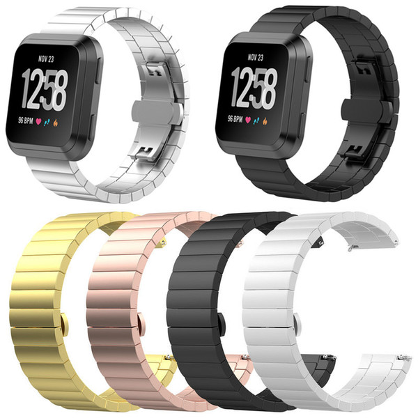 Fitbit Versa Stainless Steel Bracelet Wrist Band Smart Accessories Elegant Soft Belt Luxury Replacement Watch Band