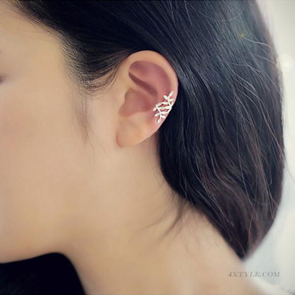best selling 30 pair lot,Elegant No hole ear clip Ear - free ear buckle Women's Earrings sprawling leaf Branch modeling Adjustable Not fading Earrings