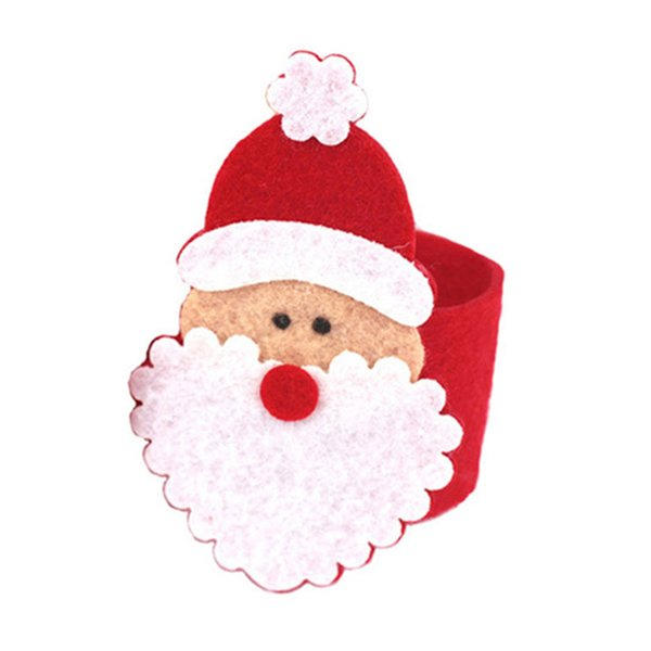 1PCS Napkin Holder For Hotel Napkin Ring Holder For Christmas Table Decoration Supplies Christmas Santa Ring Table Decor