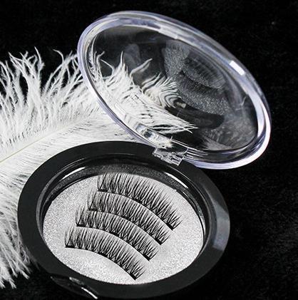 NEW EURO Magnetic eyelashes with 3 magnets handmade 3D magnetic lashes natural false eyelashes magnet lashes Full Strip Fake Eyelashes lash