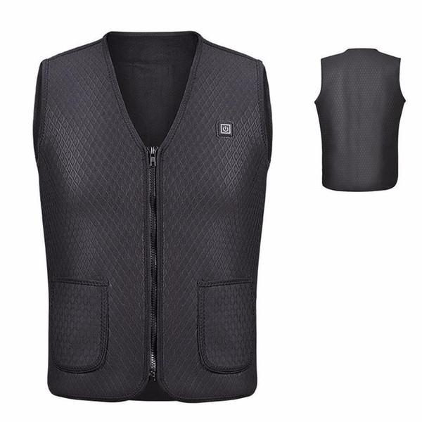 Hot Racing Unisex Electric USB Heated Warm Vest Heating Coat Jacket Clothing Skiing Racing Motorcross Motorcycle Body Back Armor