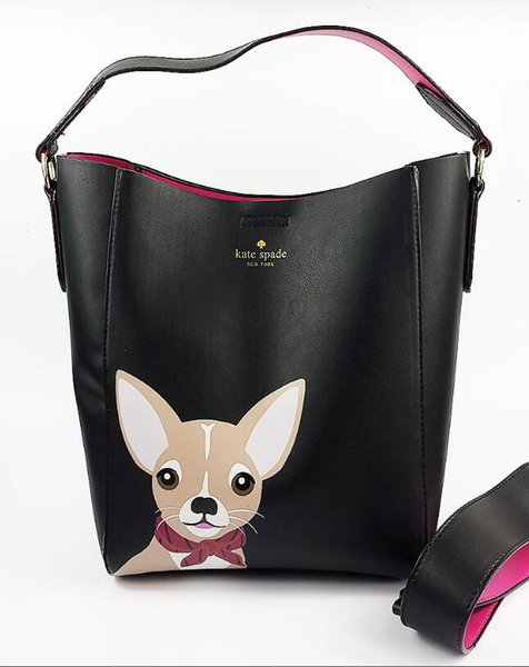 2018 women bag de igner cute dog handbag girl houlder bag leather cro body bucket tote