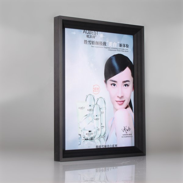 50*70CM Aluminum Advertisement Frame/Picture Rack/Photo Holder/Metal Frame Aluminum Poster Photo Picture Holder (E09A2 H32mm W22mm)