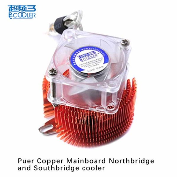 Pccooler mainboard Northbridge and South bridge cooler Copper With 4cm fan Motherboard cooling radiator fan Fixed pitch 5.2-6.2