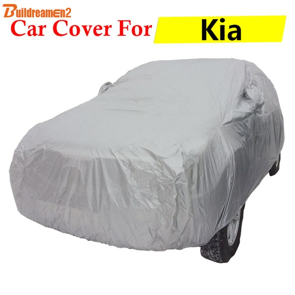 best selling Buildreamen2 Car Cover Auto Outdoor Anti-UV Sun Rain Snow Dust Scratch Protection Cover For Kia Soul Optima Ceed K9 Picanto