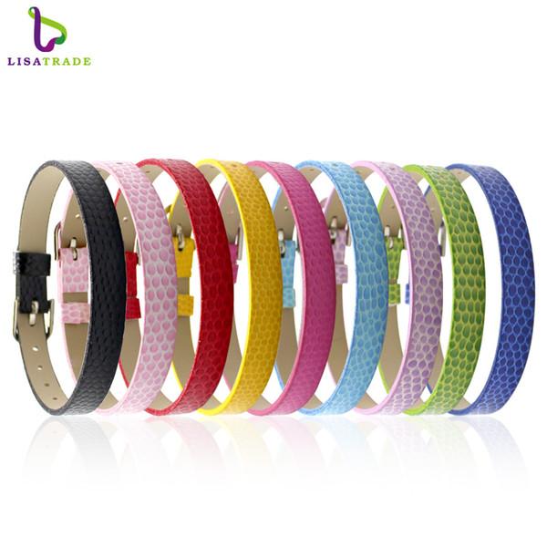100PCS 8MM PU Leather Snake WristbandBracelets