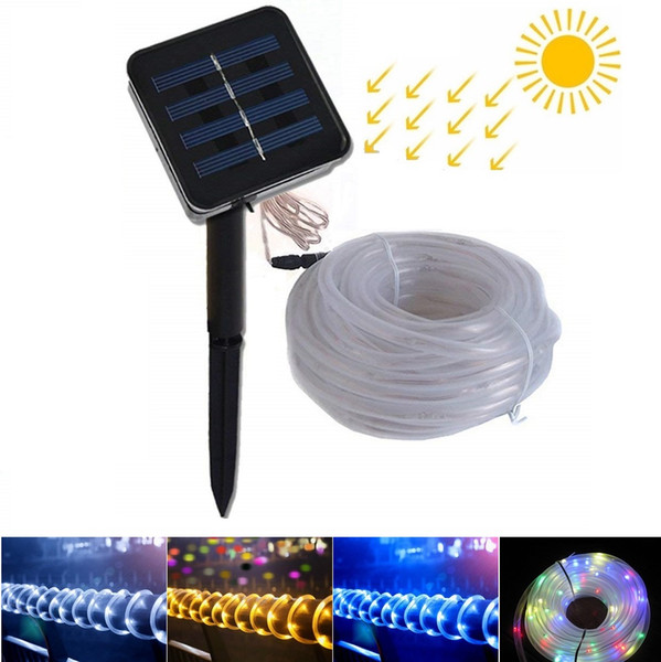 7m 12m Solar LED Strings Lights 50 100 LEDs Fairy Flower Blossom Christmas Party Lights Garden Lamp Waterproof Outdoor Night Lights