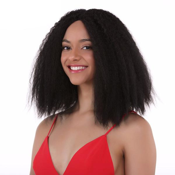 Кудрявый прямой парик Glueless кружева передние парики человеческих волос для чернокожих женщин с волосами младенца девственные человеческие волосы итальянский Яки парик