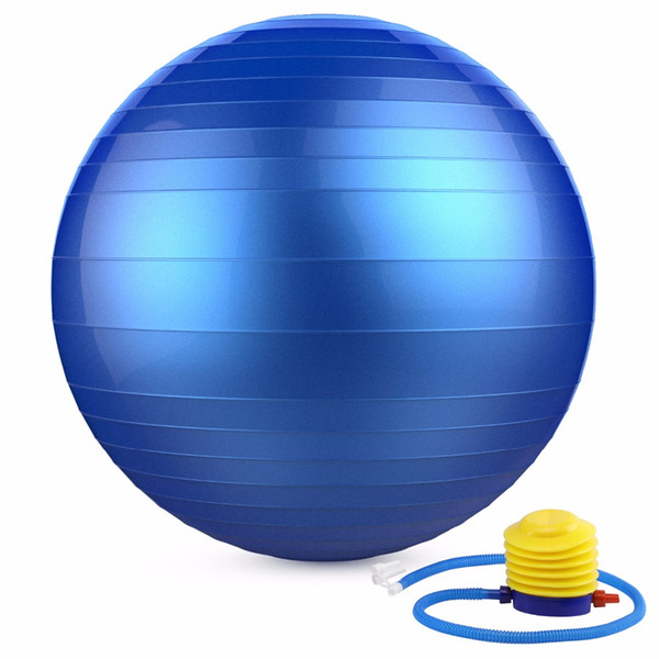 "Yoga Ball, 21.6"" Exercise Yoga Ball, Extra Thick Anti-Burst Exercise Equipment Heavy Duty Stability Ball with Pump for Fitness"