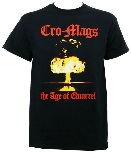 Authentic Cro - Mags Band Das Zeitalter des Streits Album Cover Art T-Shirt S - 3xl New Unisex Mode T Shirts Top Tee
