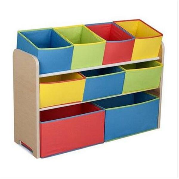 Дети многоцветные Делюкс игрушка организатор с бункеры ящики для хранения бункеры детское питание ящик для хранения
