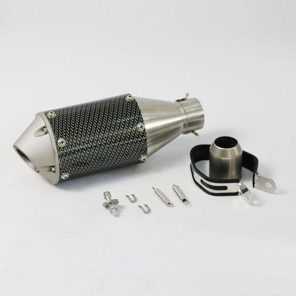 Universal 51mm Motorcycle Exhaust Tube Scooter Exhaust Muffler Large Displacement FOR YAMAHA R1 R3 R6 FZ6 ATV Pit bike Fish Style Exhaust
