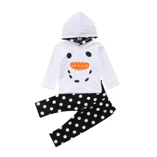 2018 Cute Newborn Infant Baby Boy Girl Cotton Kids Cotton Hoodies Long Sleeve+Long Not Pants Outfits Autumn