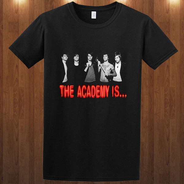 Joke T Shirt Uomo girocollo manica corta The Academy Is Alternative Rock Band S M L Xl 2-4Xl Graphic Tees