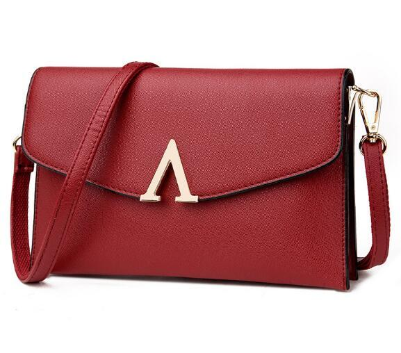New style V Type Women's Single Shoulder Envelope Bag Dinner Party Cell Phone Bag Temperament Cross Body