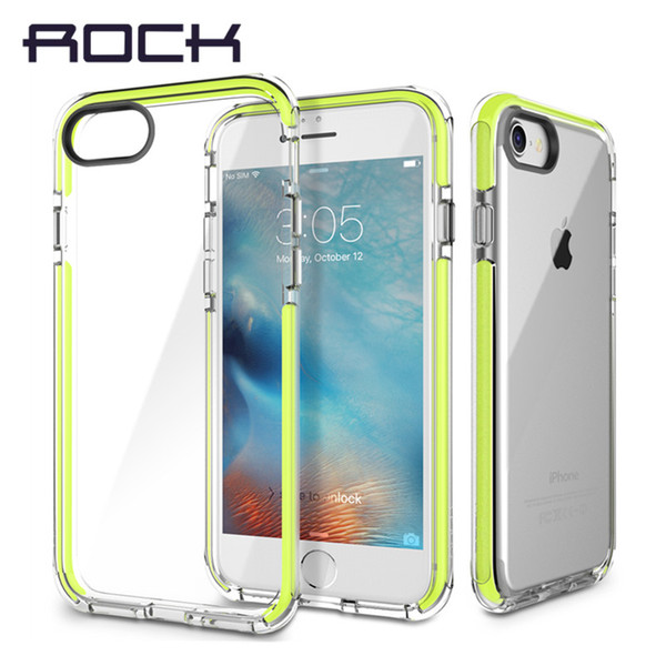ROCK SGS Certification Anti knock phone case for iPhone 7 8 Plus Guard Series Soft TPU + high elastic TPE Drop Protection Case