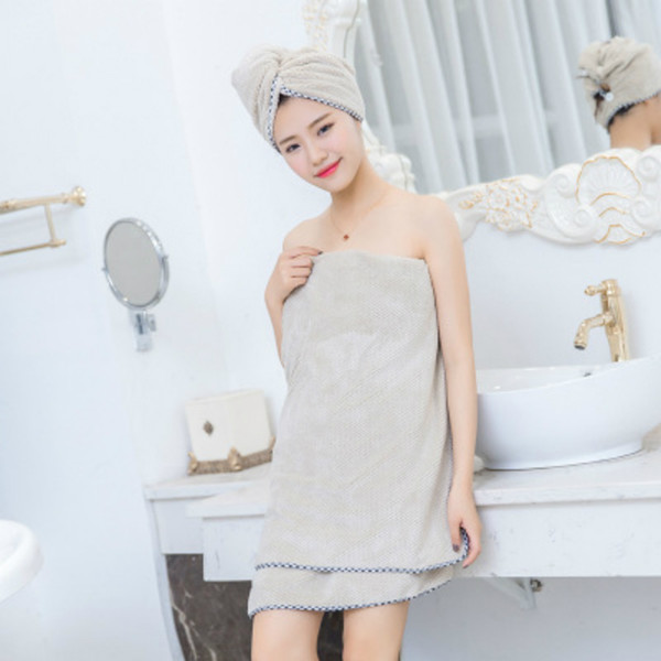 Microfiber Fabric Fleece Women Bath Towel Super Absorbent Shower Spa Body Wrap Bath Towel 70*140cm 1PC