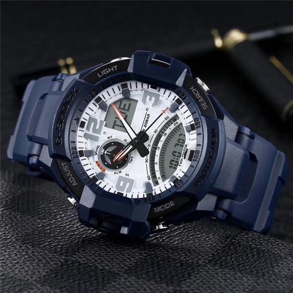 orologio sportivo di lusso di marca GA1000 orologi da uomo 50 millimetri display noctilucent orologio da polso sportivo resistente all'acqua militare atmosfera atmosfer orologio