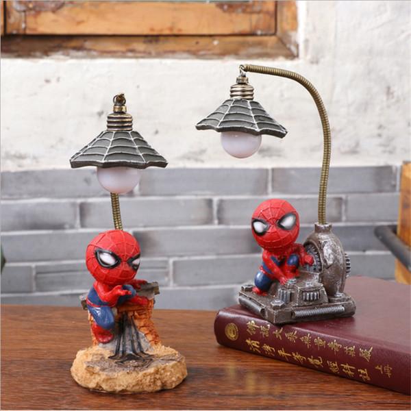 Acheter Résine Spiderman Modèle Figurines Fée Animaux Miniatures Salon  Chambre Nuit Lumière Jardin Décoration De La Maison Artisanat Cadeaux De  $12.38 ...