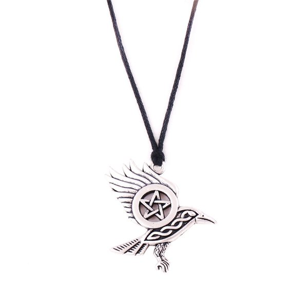 2018 Best Sale Viking Necklace For Women Men Crow And Pentacle Combine Pattern Rope Chain Gift Choose Zinc Alloy Provide Dropshipping