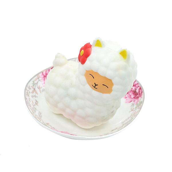 Yeni 16 CM Sevimli Alpaka Yumuşacık Koyun Telefonu Askısı Dekor Yavaş Yükselen Koleksiyonu Çocuklar Komik Koyun Oyuncak Noel