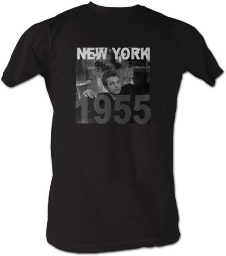 James Dean 50er Jahre Icon Foto 1955 New York Lizenzierte T-Shirt für Herren Herrenbekleidung T-Shirts T-Shirts Männer Hot Günstige Kurzarm männlich