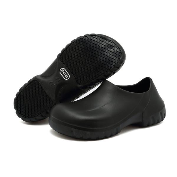 Compre Zapatos Antideslizantes Para Mujeres Hombres Zapatos De Trabajo Antideslizantes Negros Para Cocina Chef Slip On A $46.23 Del Henty | DHgate.Com