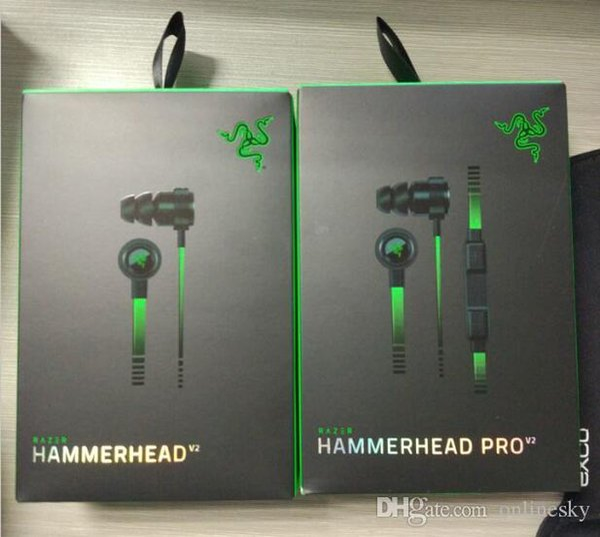 Profesional para Esport Razer Hammerhead Pro V2 Auricular para auriculares con micrófono Con caja para la venta al por menor Auriculares para juegos