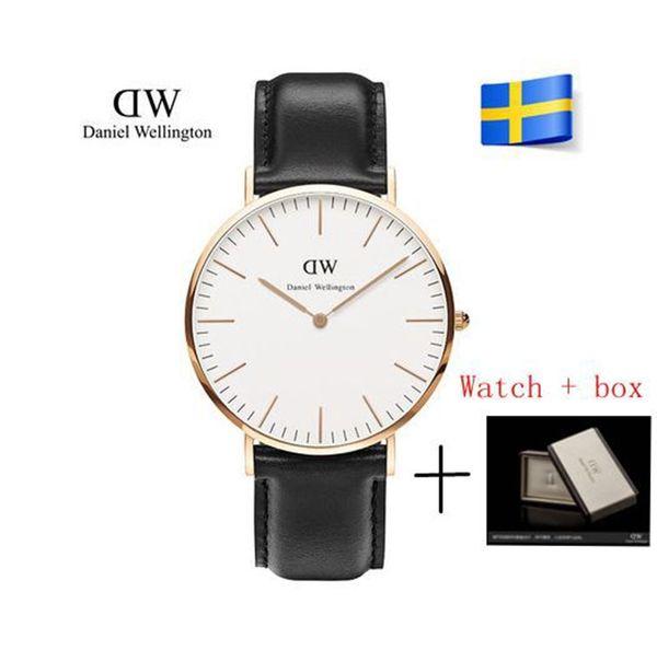 2018 New Fashion Girls Leather strapDaniel watches Luxury Brand Daniel Quartz Watch Feminino Montre Femme Relogio women Wristwatches