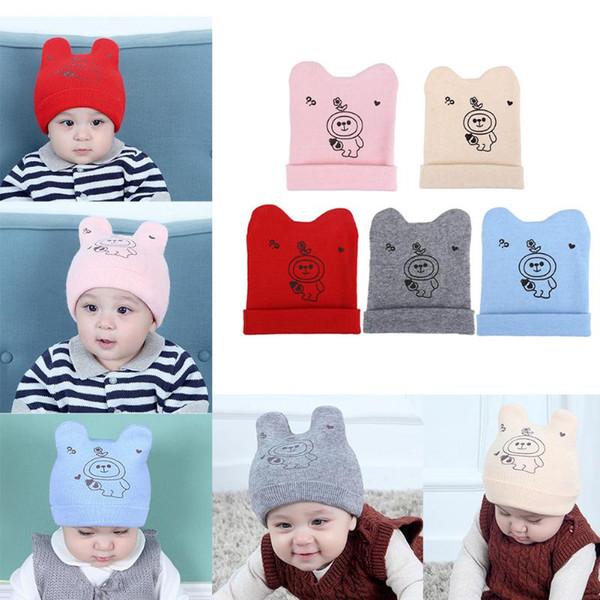 Baby Cartoon Hat Toddler Infant Knitted Wool Hats Warm Caps Cartoon Cute Sombreros Cap Children Autumn Winter Warm Gift