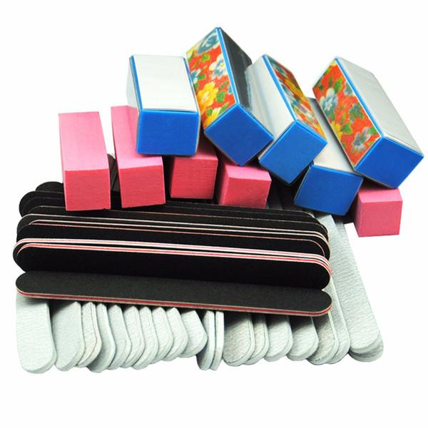 care kit Files Buffer Blocks Black Buffing Sanding Files for Nails Manicure Pedicure Tips Polisher Nail Care Salon Tools Kit 40PCS