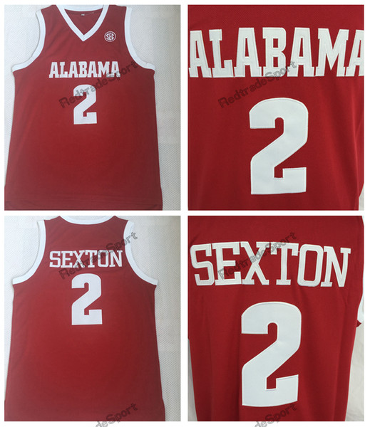 super popular e5641 9765a 2019 2018 Mens Collin Sexton College Jersey Alabama Crimson Tide Basketball  Jerseys #2 Home Red Collin Sexton Stitched Shirts S XXL From ...