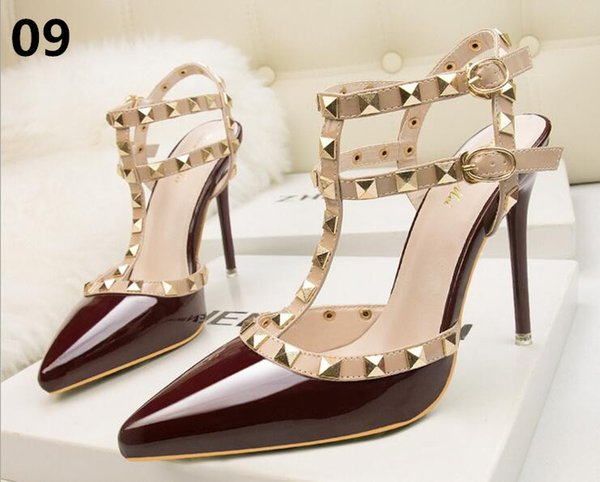 New Sexy Women Pumps Fashion Sandals Summer Shoes High Heel 10cm Peep Toe Sandals Braided Foot Ring Ankle Strap Sandals