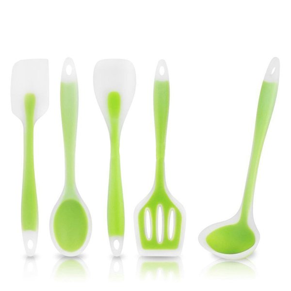 Kitchen Utensil Variety of Styls Kitchen Spoon,Spatula,Salad Spoon,Heat-Resistant Silicone Coating Utensils Kitchen Cooking Tool