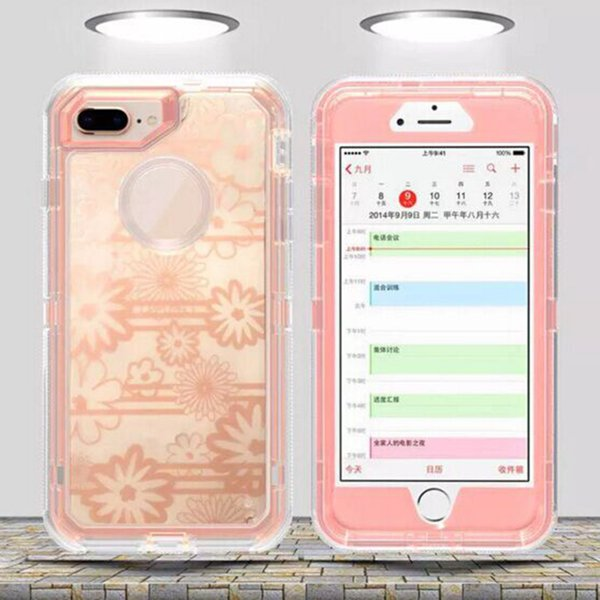 For Samsung galaxy s9 Note 8 s8 Plus Clear Artistic Pattern Robot Case for iPhone X 8 7 6 6s Hybrid Crystal Graphics Defender Cover Cases