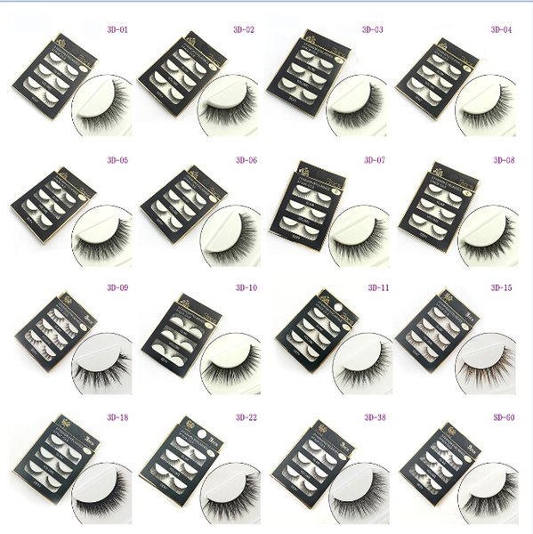 3D False eyelashes 16 Styles Handmade Beauty Thick Long Soft Lashes Fake Eye Lashes Eyelash Sexy Wholesale 3001078