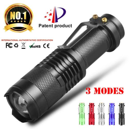 top popular Q5 LED 300LM Zoom Mini Flashlight 5 Colors Portable AA 14500 Battery Torch Penlight Waterproof Flashlight For Outdoor Fishing Camping 2021