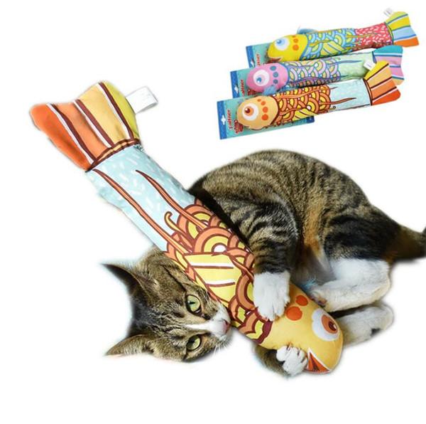 Cerative cat toys simulación de peces lindos peces de peluche catnip gatos de juguete con sonido de almohadas de papel suministros de gato