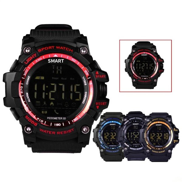 EX16 Sport Bluetooth Smart Watch Xwatch 5ATM IP67 Waterproof Smartwatch Pedometer Stopwatch Alarm Clock LONG TIME STANDBY