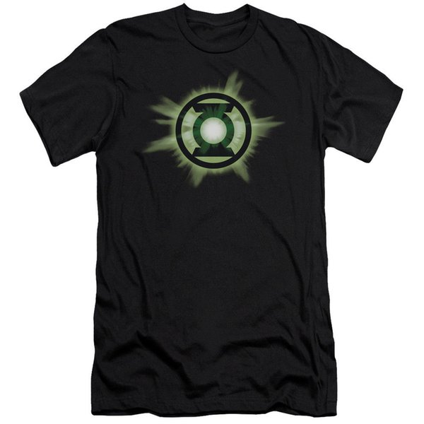 Green Lantern Corp Green Glow DC Comics Licensed Adult T Shirt Funny free shipping Unisex Casual tee gift